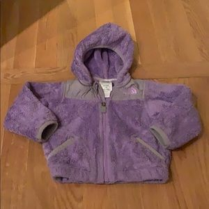 North Face Purple Fleece Hooded Jacket